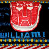 Prime Time Optimus Prime Transformers Buttercream Cake