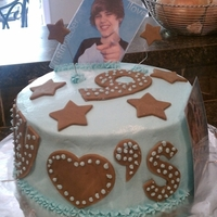Justin Bieber Birthday Cake   My 9 yr old designed this cake for her birthday. She said it turned out better than she expected!