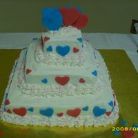 Cake Of Love This was a cake I did for my best friends wedding shower.