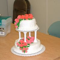 2Nd Attempt At Course 3 Cake second attempt at using fondant...it was ok