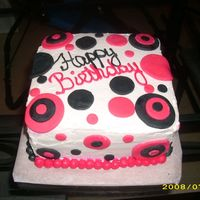 Black And Pink Done in Buttercream with Pink and Black Fondant cutouts