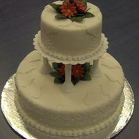 Christmas Time Wedding Cake This is a fondant, Christmas time wedding cake.