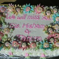 Farewell Cake We (flowers) will miss you!