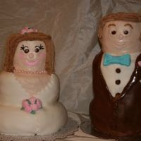 Bride And Groom Shower Cakes My customer wanted a chocolate cake groom and white cake bride. I stressed over this until I saw a cake by mamacc on CC. I got my...