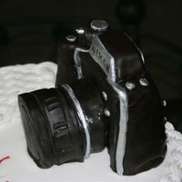 Close Up Of Camera Made Of Cake. Close up of camera made for retirement cake. Everyone thought it was real when they first saw it.