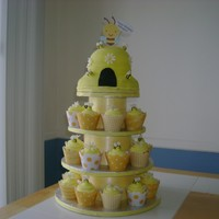 Beehive Cupcake Tower 30 Cupcakes, half chocolate, half vanilla. Beehive is a chocolate fudge cake, filled with chocolate frosting, iced in buttercream and...