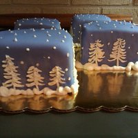 Winterscape Mini Cakes