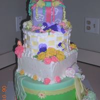 Colorful Display 4-tiers of colorful fun! each teir has a different decorating