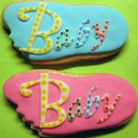 Pink And Blue Baby's Feet Baby's Feet made as Favor for Baby Shower