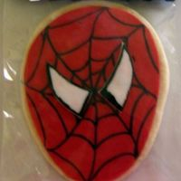 Spiderman Cookie Made For My Son's 7Th B'day Spiderman Cookie