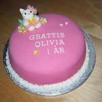Olivias Hello Kitty 1St Birthday Cake