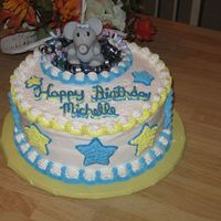 Elephant Birthday Cake This is a birthday cake I made for my daughters 20th birthday...she has loved elephants since she was 2 yrs old...she also loves the color...
