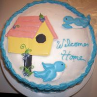 Housewarming  this is a cake i made as a gift for a client who purchased their new home and got their home loan through me and my husband. the cake is...