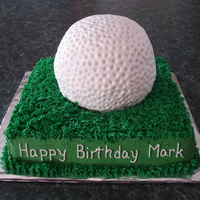 Golf Made this cake for my golf crazy husband. It's all done in buttercream.