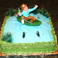 The Big Catch Made this cake for my dad who LOVES fishing.
