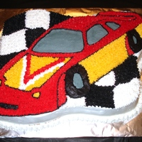 Race Car Made this cake for my son's race car birthday.