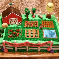 Farmville I made this cake for a friend who LOVES Farmville. It's iced in buttercream with everything else done in marshmallow fondant.