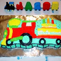 Train I made this for my train loving son's 3rd birthday. It was pre-cake decorating class, but still turned out pretty cute. The adults ate...
