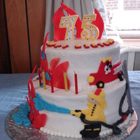 Fireman Cake Did this cake for my father-in-law's 75th birthday. He's a big kid at heart.