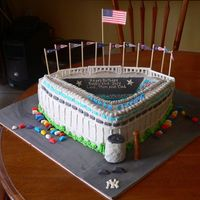 Yankee Stadium This is my best cake yet for a fanatical Yankee friend. His twin sons were having their 2nd birthday, and he wanted a Yankee Stadium cake....
