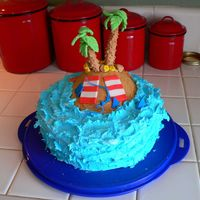 Tropical Island Getaway This is a fun cake for a tropical party. I also uploaded the close up pictures of the island to see the detail of the palm trees, the...