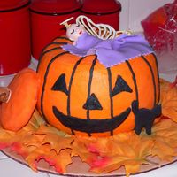 Pumpkin Angel I made this with 2 bundt pans. Yellow cake with chocolate ganache between the layers, and buttercream frosting on the pumpkin. I made the...