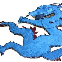 Tang Soo Do Dragon This cake is 4 feet square and is make out of 250 cupcakes on a plywood cutout and frosted over the top with blue. Textured with a cookie...