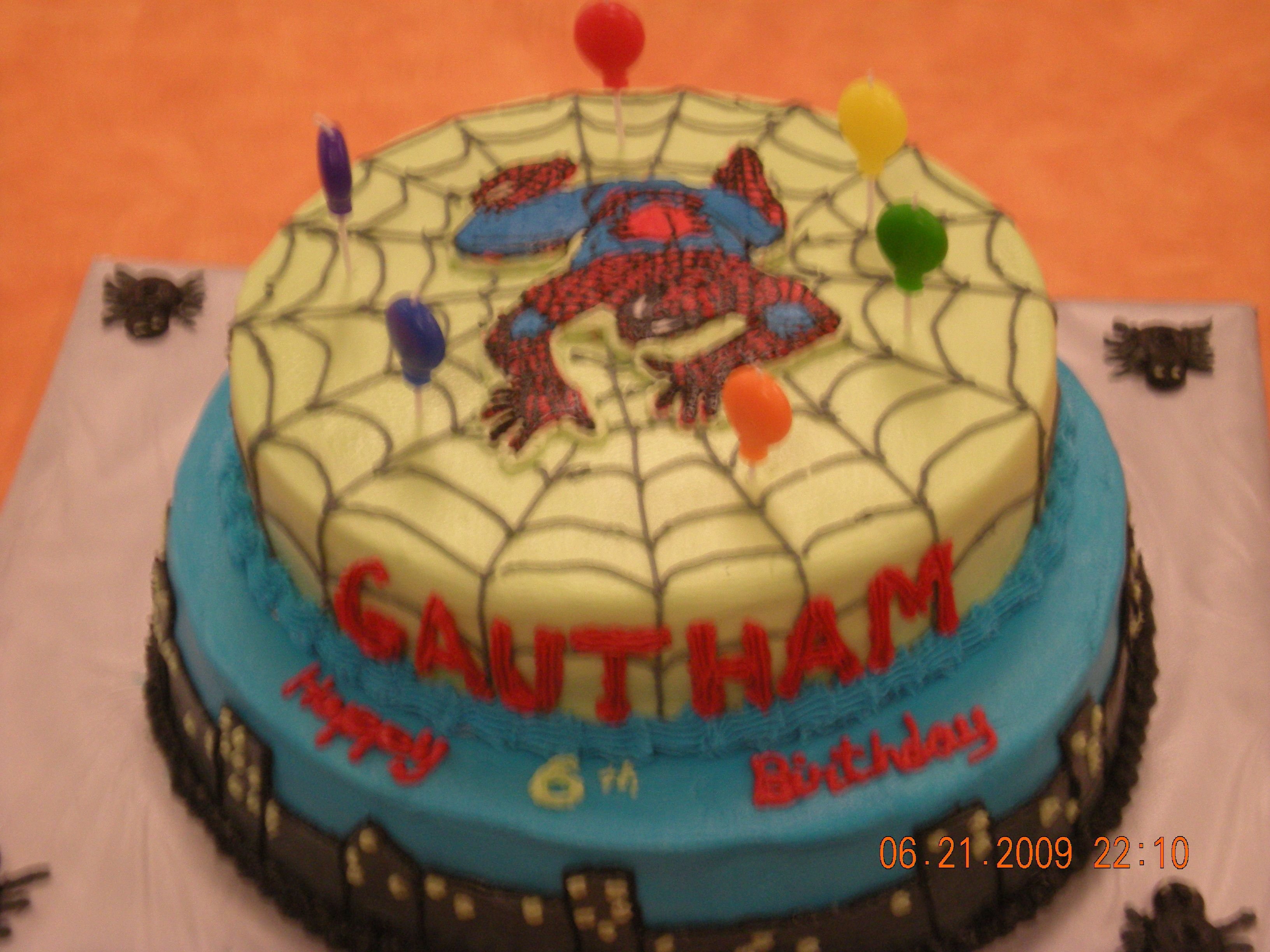 Spiderman Cake The spiderman is FBCT. I got a lot of inspiration for this from many awesome cakes on this website.
