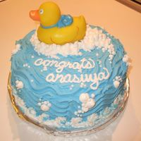 Rubber Ducky Baby Shower Cake All bc with rubber ducky bath toy.