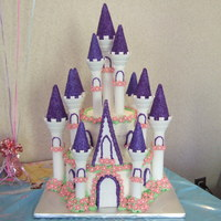 Princess Castle Cake  Castle cake for 3 year old's Cinderella Princess party. Used Wilton's castle cake kit. One of the easiest cakes I've made....