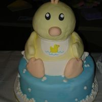 Baby Duck This is the cake I did for my best friend. I really loved how this turned out. Everyone kept asking me if it was a stuffed toy on top. The...