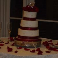 Resized_Dell_Wedding.jpg Wedding cake done for good friends in New Orleans. All buttercream icing. tfl.