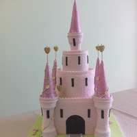 Pincess Castle  This was made for my daughter's 6th birthday. Top and bottom tiers are dummies, middle tier chocolate mud cake. Turrets made from ice...