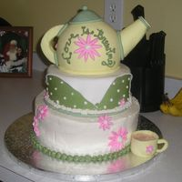 Tea Party I got the idea for this cake from someone else on this website...I can't remember who...but thank you!