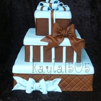 Gift Boxes Display cake I made for a local Bakery