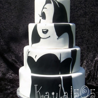 Jessica Rabbit Practice cake I made this weekend. I wanted to play with my Cricut E.I love the way she turned out.