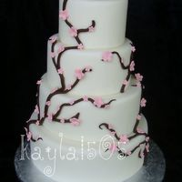 Cherry Blossom Cherry blossom display cake I made for a local bakery