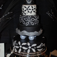 Black And White Inspired By Necklace This is a cake I did for a wedding show. I had asked Mom to send a few pieces of jewelry to inspire me. I saw this piece and couldn't...