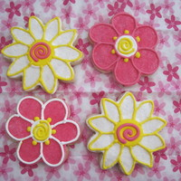 Spring Flower Cookies Sugar cookies iced with royal icing