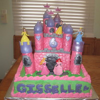 Princess Castle Cake This cake was made for a princess party. The figures were store bought and could be moved around the castle by the birthday girl during her...