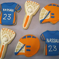 Lacrosse Cookies Sugar cookies iced with royal icing
