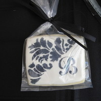 Damask Bridal Shower Cookie Sugar cookies iced with royal icing