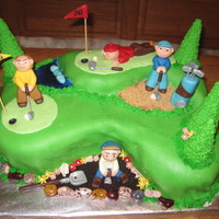 80Th Hole! I made this for a family friend who was turning 80, loves golf and is in a senior club that does gardening for the golf course. Cake is...