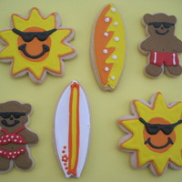 Beach Party Cookies! sugar cookies with royal icing