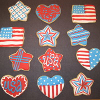 Fourth Of July Cookies Sugar Cookies with royal icing