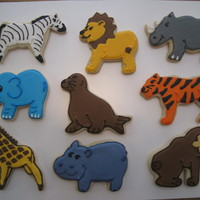 Zoo Animal Cookies I made these sugar cookies for wedding favors for a freind who was getting married at the New Orleans Zoo.