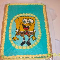 Spongebob Squarepants Here's one I did for my sister-n-laws Birthday. She is a big spongebob fan.