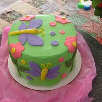 Practice Cake... Fun With Fondant! I made some MMF and needed to use it so I just sat down with a blank slate and started making cut-outs... It was really fun and my first...