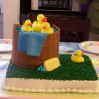 Rubber Duckie Shower Cake First, thanks to eor112 for the inspiration of this cake! It was fun to make and I am very proud of this one. Buttercream and fondant......