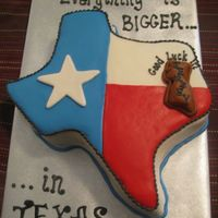 Everything Is Bigger In Texas!!! I loved doing this cake. It was for a going away party where the person was originally from New Jersey and always talked about how much...
